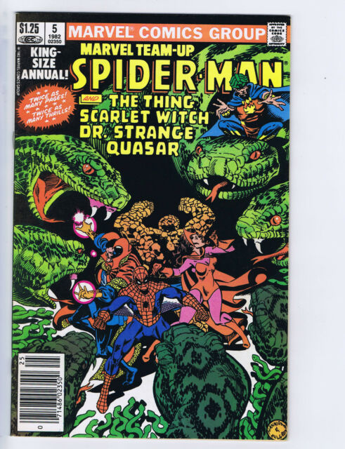 Marvel Team-Up  King-Size Annual #5 Marvel 1982 CANADIAN PRICE VARIANT