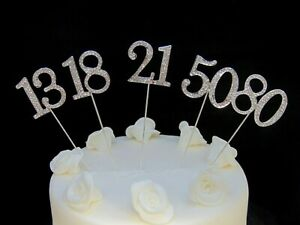 45mm-Silver-Diamante-Rhinestone-Cake-Pick-Topper-Birthdays-Diamante-Numbers