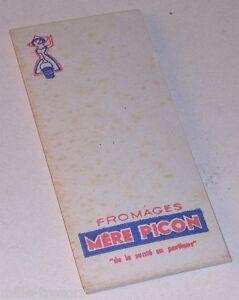 Moins-courant-Carnet-publicitaire-Epicerie-Fromages-Mere-PICON