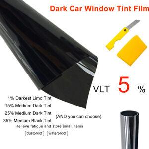 6m-x-76cm-5-VLT-Noir-Pro-FILM-TEINTE-PELLICULE-VITRES-AUTO-VOITURE-Rouleau