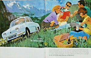 PUBLICITE-DE-PRESSE-1963-LA-VIE-EST-BELLE-AVEC-PERRIER-ET-RENAULT