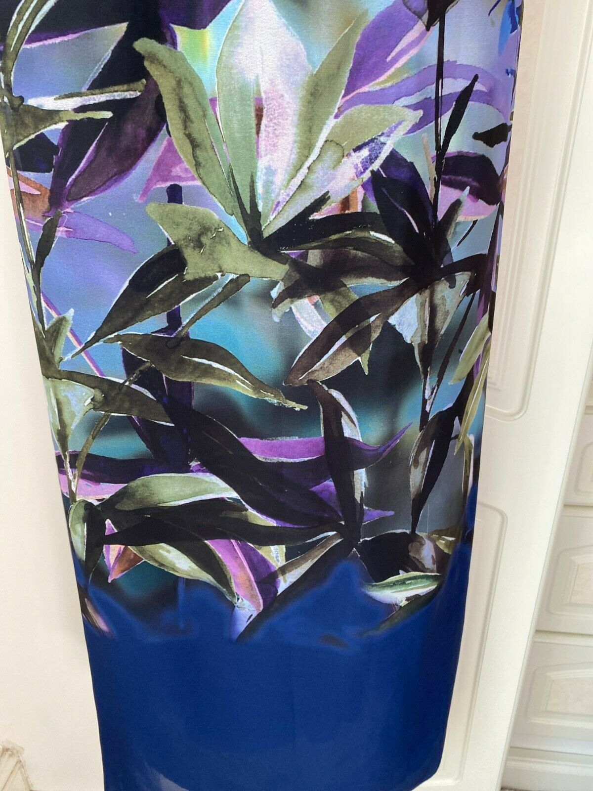 Laura Ashley Size Uk 14 Outstanding Floral Print Lined Chiffon Dress Bust 40