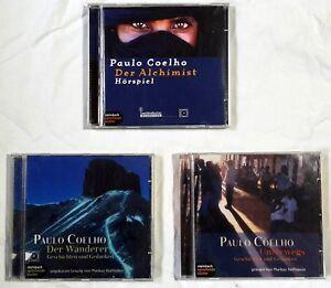 3-x-PAULO-COELHO-Hoerbuecher-CDs-Sammlung-Gebraucht-Alchimist-Wanderer