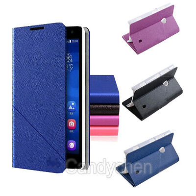 Flip Stand PU Leather Case Cover + Film For Nokia Lumia 625/925/1020/1320/1520