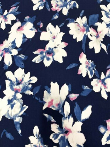 Floral Pattern on Stretch ITY Knit Jersey Polyester Spandex Fabric