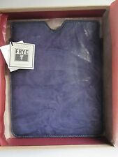 NIB Frye Cameron in Iris Blue Leather iPad Tablet Protector Sleeve Pouch $148