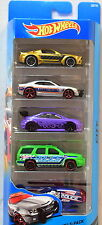 HOT WHEELS 5 CAR PACK  HONDA CIVIC SI - CAMARO - MUSTANG - CHEVY