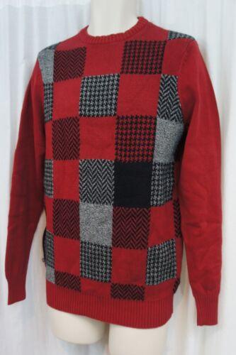 décontracté Pull Beene Pull Geoffrey carreaux multicolore Sz S gris à dCBoxe