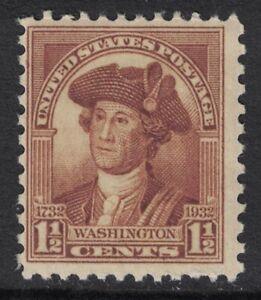 Scott-706-Mnh-1-1-2c-Washington-Bicentennial-Charles-Peale-1932-Nuevo-Nuevo