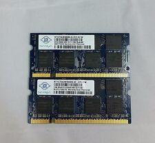 Nanya 2GB 2x1GB DDR2 PC2-5300 2Rx16 SO-DIMM LAPTOP MEMORY RAM, # of Modules 2