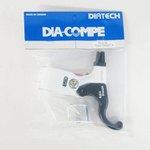 White x Black DIA-COMPE TECH99 GOLD FINGER Brake Lever Right Only