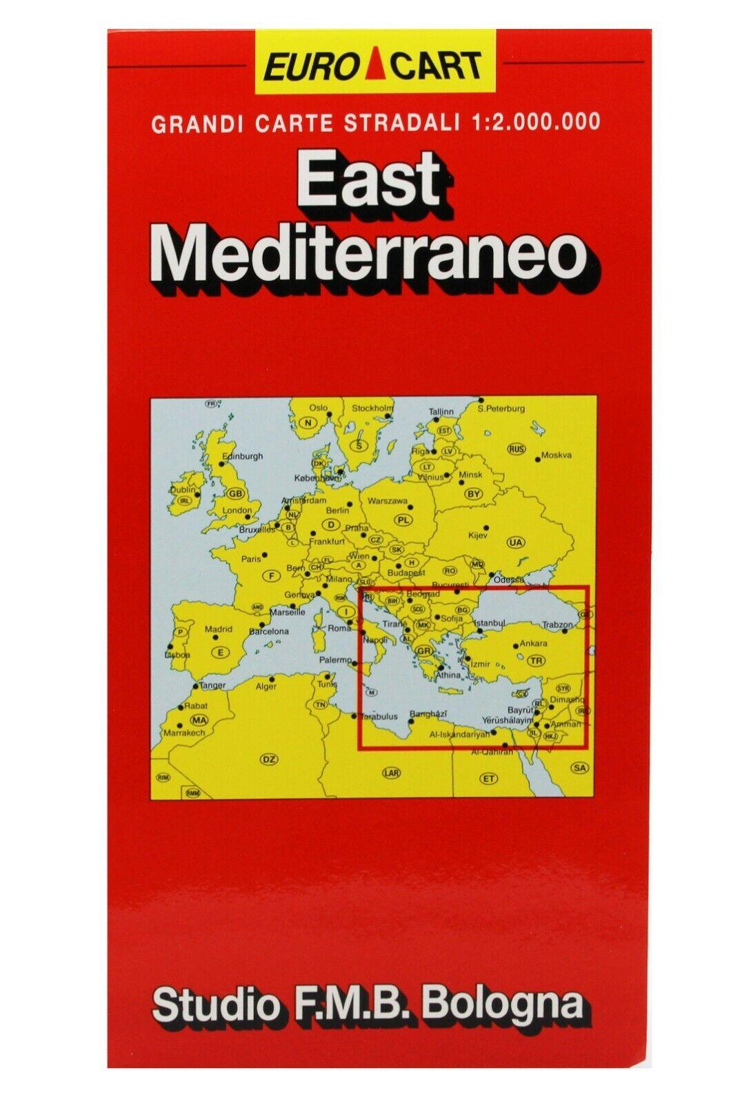 Mediterraneo Cartina.Mediterraneo Est Albania Bosnia Grecia Turchia Cartina Stradale Mappa Ebay