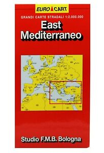 Albania Cartina Stradale.Mediterraneo Est Albania Bosnia Grecia Turchia Cartina Stradale Mappa Ebay