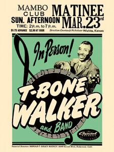 Blues-T-Bone-Walker-Mambo-Club-Concert-Poster-reprint-1952