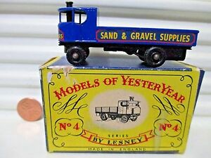 Lesney-Matchbox-1959-Models-of-Yesteryear-Y4-1928-Sentinel-Steam-Truck-BkPWhls