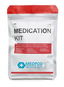 Travel Medication Kit / Refill For First Aid Kits NEW - MedPod