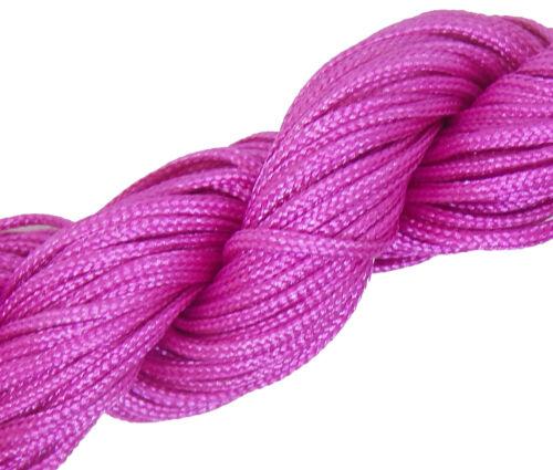 30 Km Macramé Fil Nylon Fils Cordon 1 mm shamballa Bande Violet Best c121