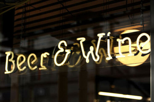 """Beer and Win Neon Sign Light Bar Pub Open Wall Poster Handmade Real Glass14""""x6"""""""