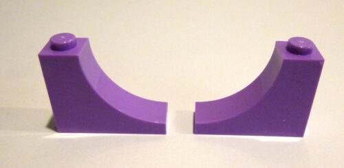 2 x LEGO® 18653 Sondersteine 1x2x3 invers hell lila wie auf dem Foto Neu.