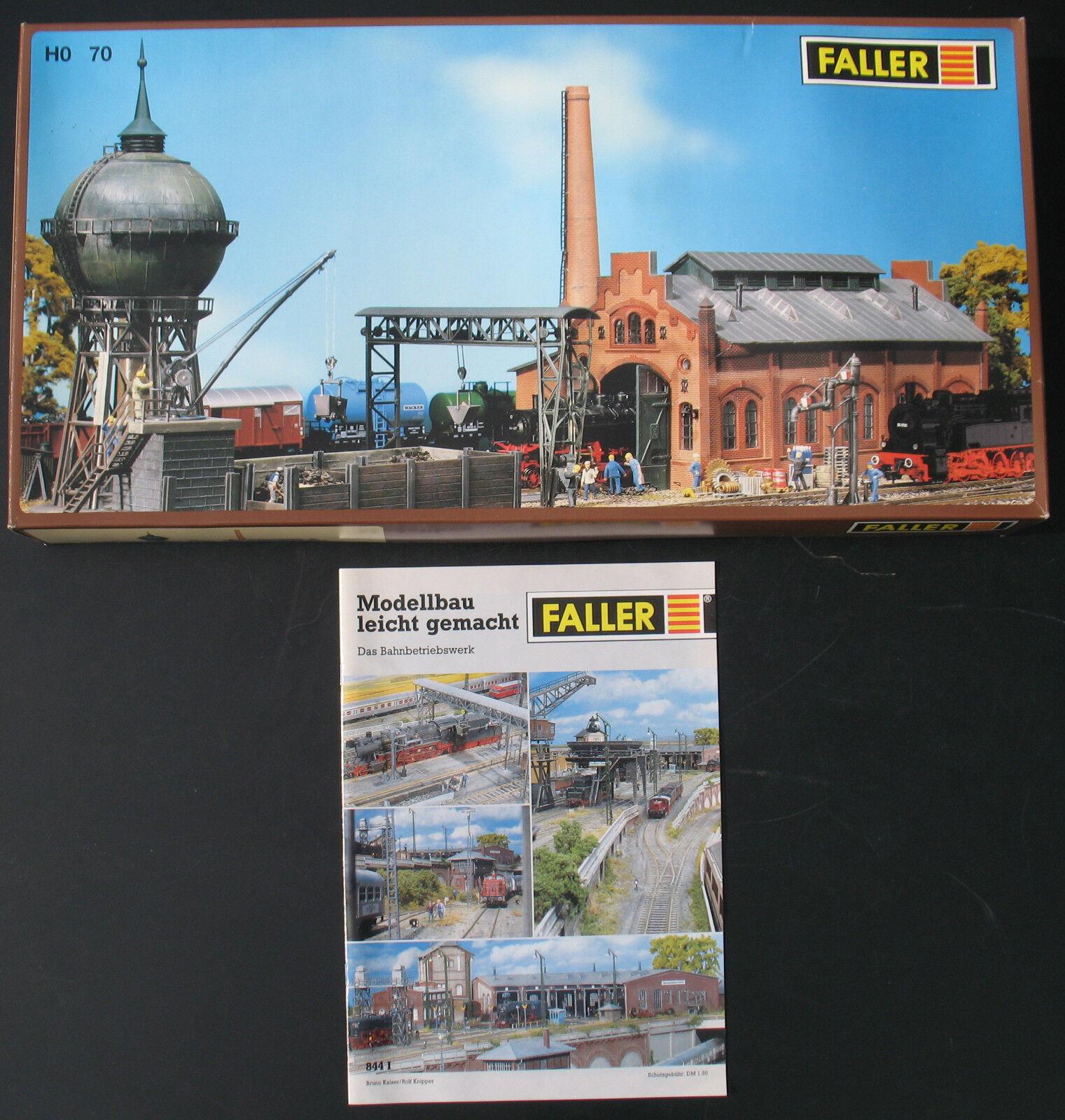 Faller 70 - Bahnbetriebswerk Set  Heft 844 844 844 I  - H0 -Eisenbahn Kit Lok Werkstatt    Moderne und stilvolle Mode  45e57c