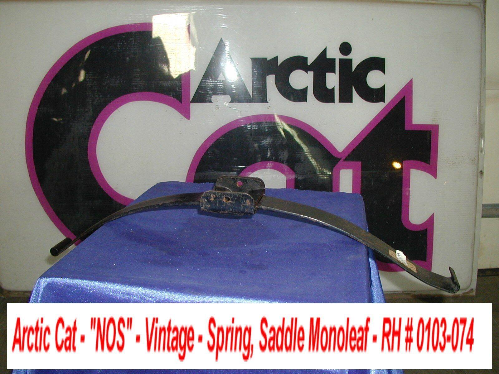 Arctic Cat Ski Spring, Monoleaf w saddle '74 El Tigre Vintage