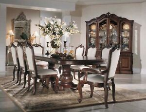 Details about Formal double pedestal dining room The Bob mackie collection  by american drew