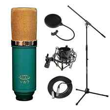 MXL V67G Large Capsule Condenser Microphone Stand Shockmount Filter Cable