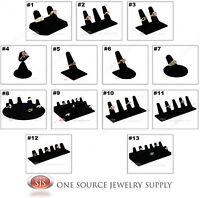 Black Velvet Finger Ring Jewelry Displays Countertop Displays Ring Holders