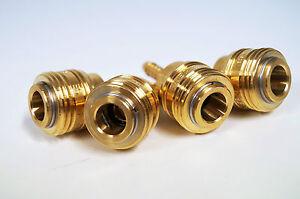 4x Druckluftkupplung 6mm Steckkupplung Schlauchanschluss Durckluft f Stecknippel