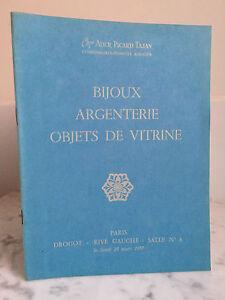 Catalogue Di Vendita Gioielli Argenteria Articolo Vetrina Sala N 6 28 Mars 1977