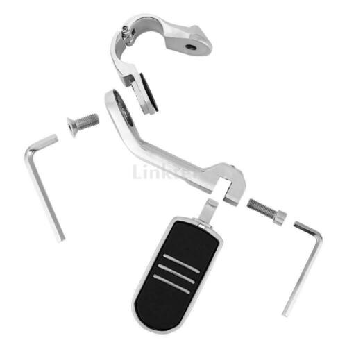 """Long Angled 1 1//4/"""" Streamline Highway Foot Pegs Footrest Mount Clamps Sportster"""