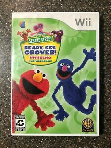 Sesame-Street-Ready-Set-Grover-w-Elmo-Nintendo-Wii-Complete-Tested