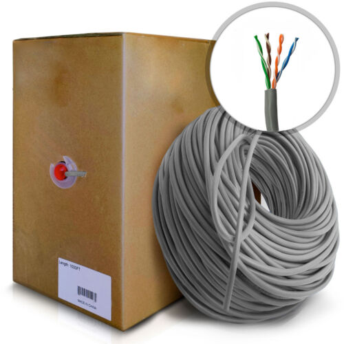 1000Ft Cat5E Network Cable RJ45 Ethernet Lan Patch Wire