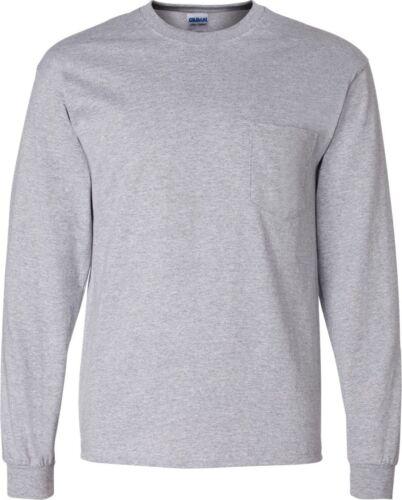 2410 Gildan Ultra Cotton Long Sleeve T-Shirt with a Pocket