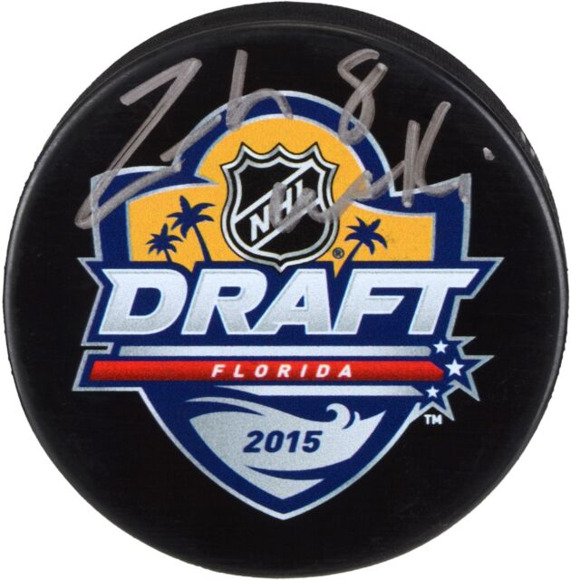 Zach Werenski Blue Jackets Signed 2015 NHL Draft Logo Hockey Puck - Fanatics