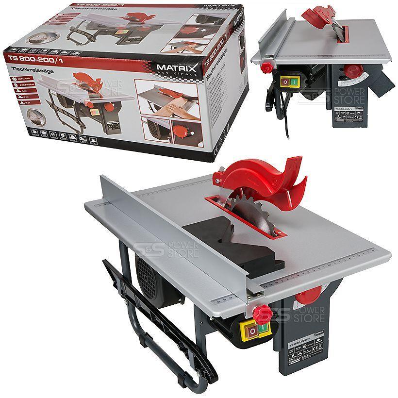 Matrix Tischkreissäge TS 800-200 1 Kreissäge 800 Watt inkl Sägeblatt Tischsäge