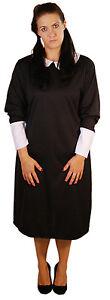 HALLOWEEN-Creepy-Evil-Addams Family LADIES WEDNESDAY GIRL COSTUME All Sizes
