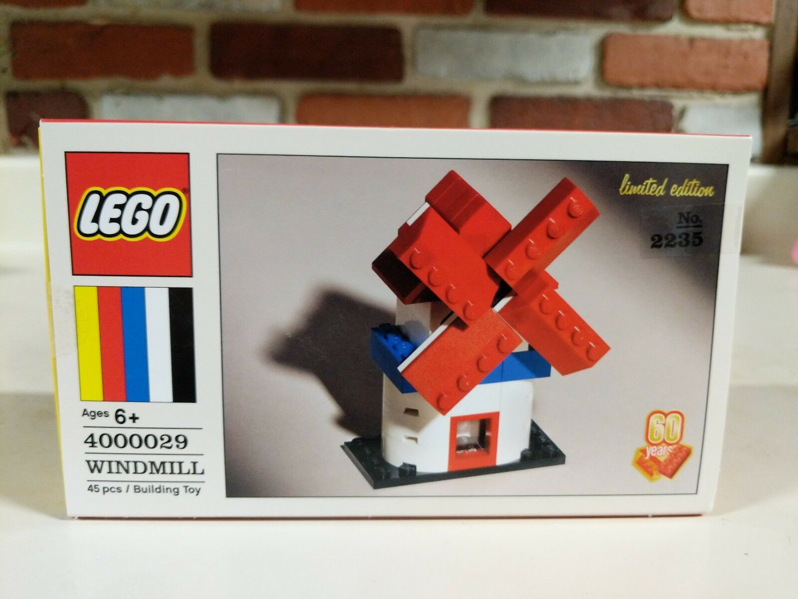 LEGO 60th ANNIVERSARY WINDMILL LIMITED EDITION BRAND NEW, SOLD OUT HTF