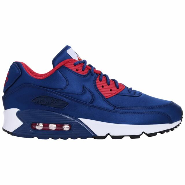 Buy Nike Air Max 90 SE Royal Blue White Red 8.5 Trainer Satin online ... 359153f3a