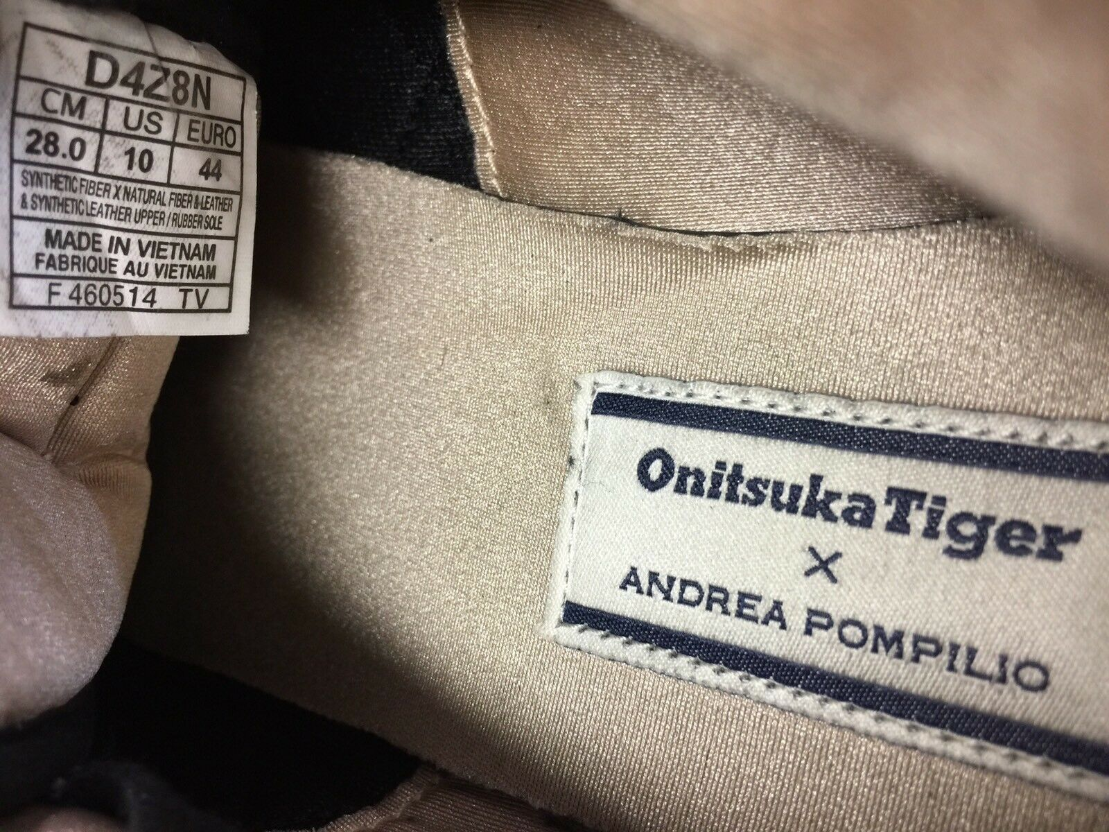 RARE   Asics Onitsuka Tiger Pompilio Colorado '85 X Andrea Pompilio Tiger Sz 10 LE Retro Shoes 57a368