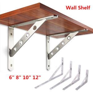 2pc Heavy Duty Wall Mount Display Storage Shelf Bracket L Shaped Supporter 6 12 Ebay