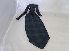 (A) Tartan Black Watch-Green/Blue/Black Mens Polyester Scrunchie Ruche Cravat