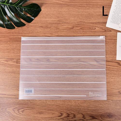 A4//A5 File Storage Document Folder Protective Transparent Bag School Suppl WD