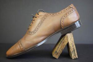 Men-039-s-Brown-Aston-Grey-Hunter-Oxford-Cap-Toe-Size-8-5