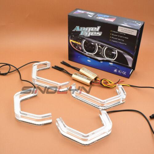 DTM LED Crystal Angel Eyes Halos Dual Colors For BMW F30 F32 F34 F80 F82 F83 M2