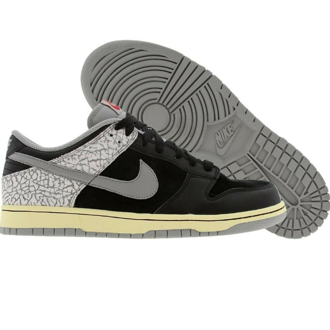 304714-905 Nike Dunk Low CL Jordan Pack 3 III Black Cement Bred Fear White