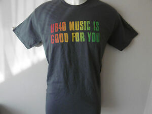 * New * Ub 40 2015 Tour Mens Grey Crew T Shirt M L Xl Xxl Le Reggae Is Good For You-afficher Le Titre D'origine