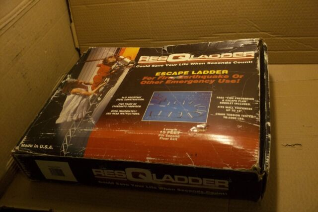 RESQLADDER EMERGENCY FIRE ESCAPE LADDER 15 FEET 2-STORY USA 10
