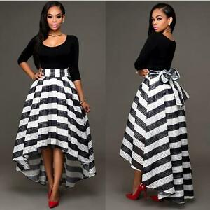 Fashion-Women-Elegant-Long-Striped-Shoulder-Off-Evening-Cocktail-Maxi-Dress