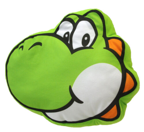 "Real Little Buddy Super Mario Bros 1260 Yoshi Face 12/"" Cushion  Plush Pillow"